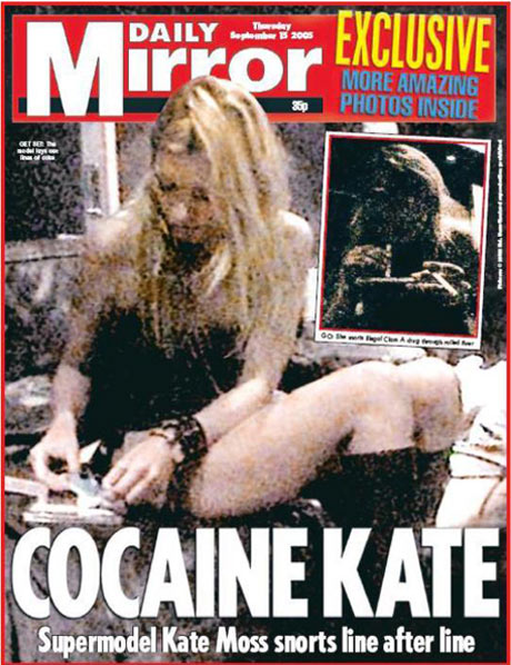 kate moss daily mirror drogas cocaina