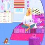 Juego para decorar la habitación de Barbie