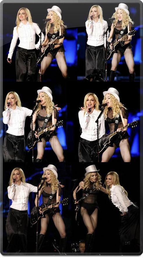 Britney junto a Madonna en el Sticky Tour de Los Angeles