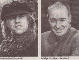 Bob Geldof y Midge Ure