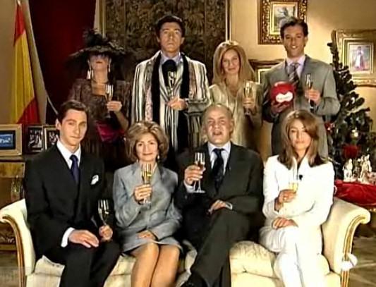 familia real parodia