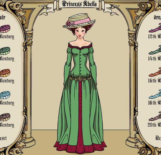 Princesa vestidos antiguos