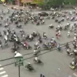 Tráfico de motos en Vietnam
