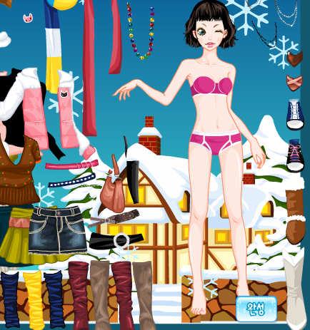 Juego para vestir con ropa de Navidad
