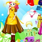 Vestir a la niña del campo