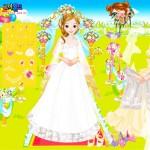 Juego de vestir a la novia