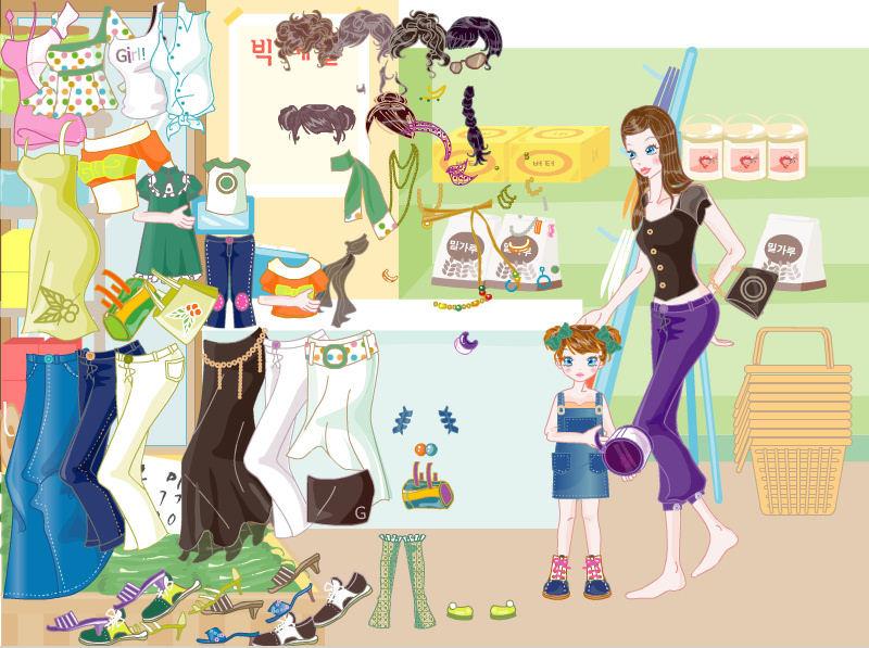 juego-vestir-de-compras-supermercado-mama-nina