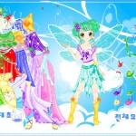 Juego para vestir al hada mariposa