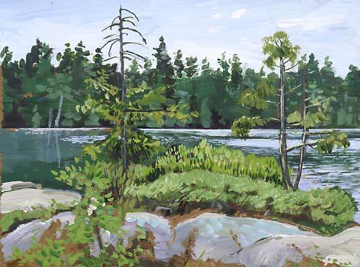 Isla en el Lago Hurd's