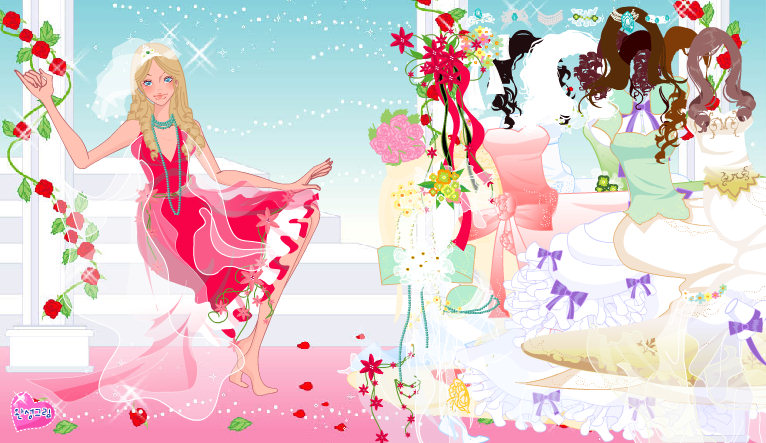 Juego para vestir a la novia guapa: Bride Fashion Rose