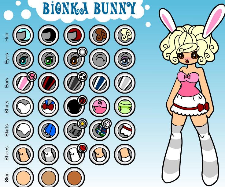 juego-jugar-dress-up-bunny-conejita-conejo-chica-bionka