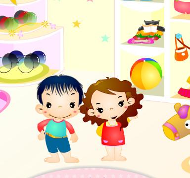 Juego de vestir y cuidar a los gemelos bebés Yuri Nuri