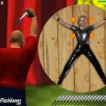 Juego: Lanzando cuchillos a tutiplen