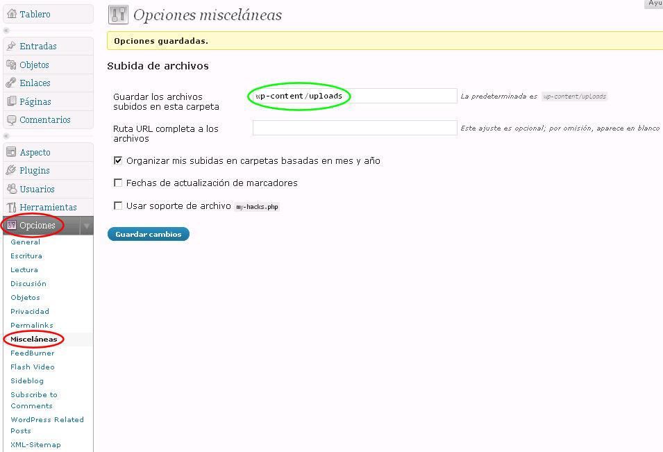 opciones-wordpress-imagenes-no-suben