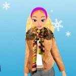 Barbie en la nieve, llega la Navidad