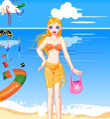 La chica de la playa y sus bikinis