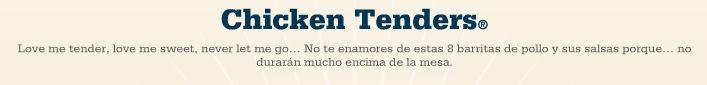 menu chicken tenders