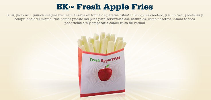 menu fresh apple fries