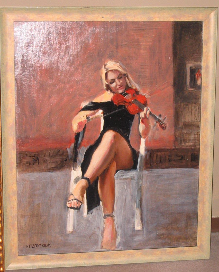 Estudio con violín