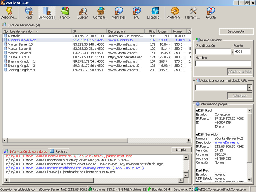 emule-servidores-busquedas-edonkey