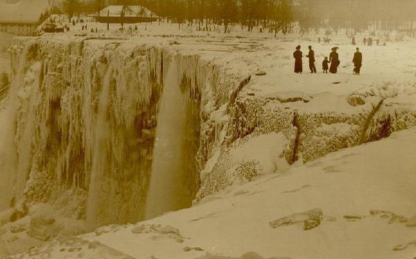 naturaleza niagara congelada