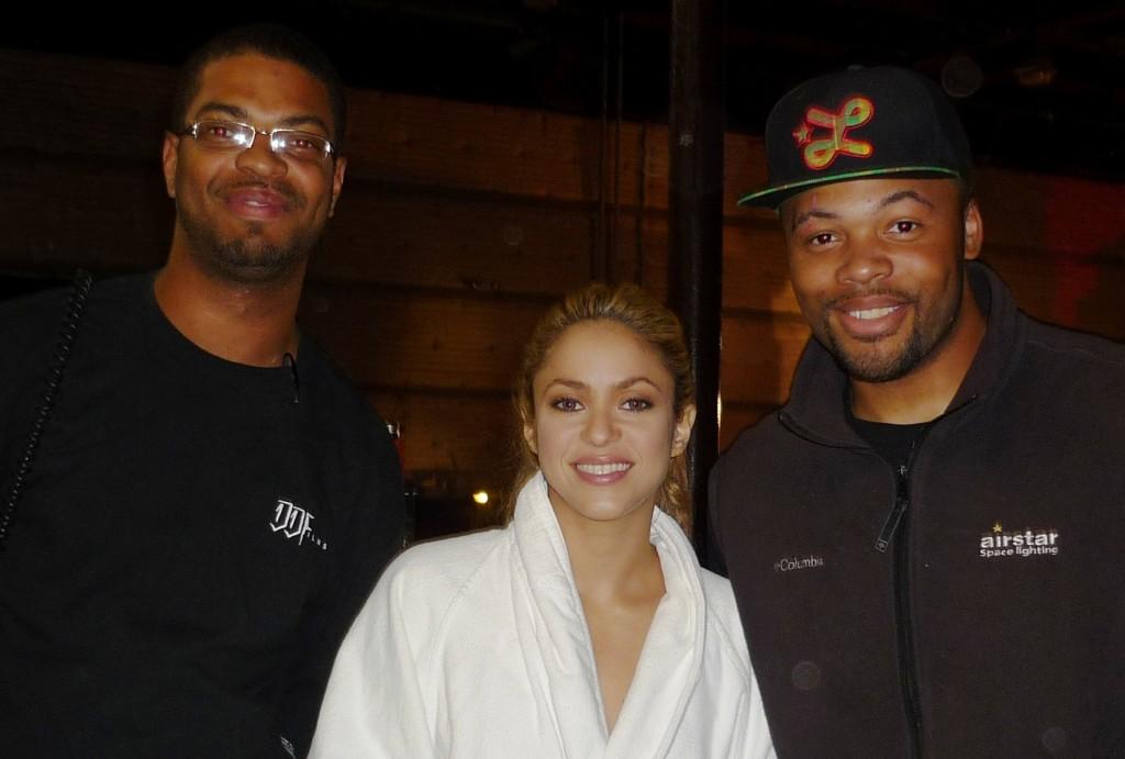 "Shakira grabando el vídeo para ""She wolf"" (La loba)"