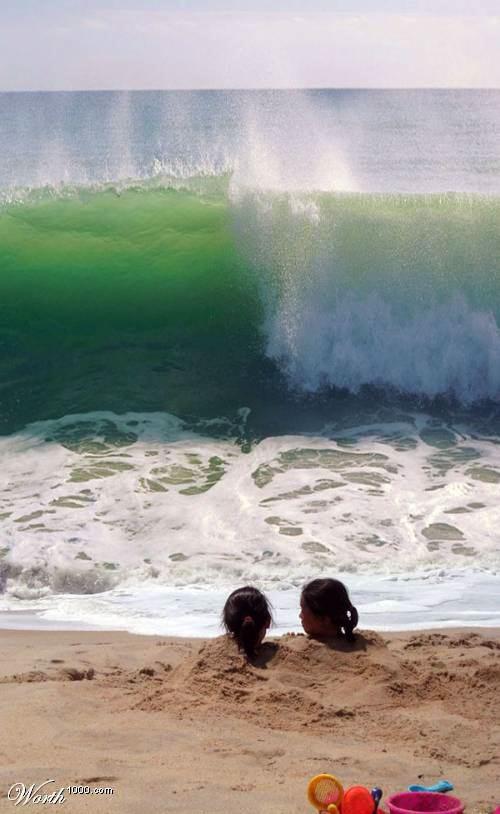sorprendente imagen olas pozo