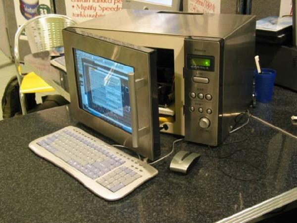 sorprendente microondas pantalla