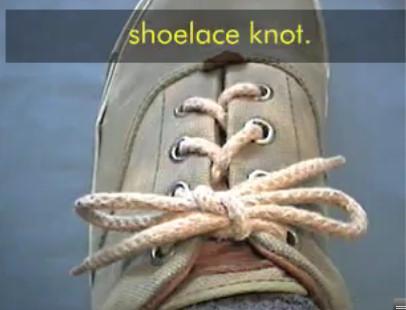 atar zapatos nudo