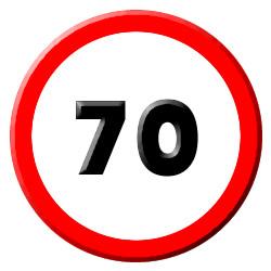 70 velocidad
