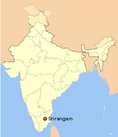 Sri Ranganathaswamy templo india mapa