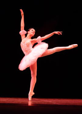 bailarina ballet puntillas