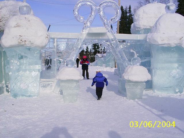 hielo escultura cucuruchos ice cones