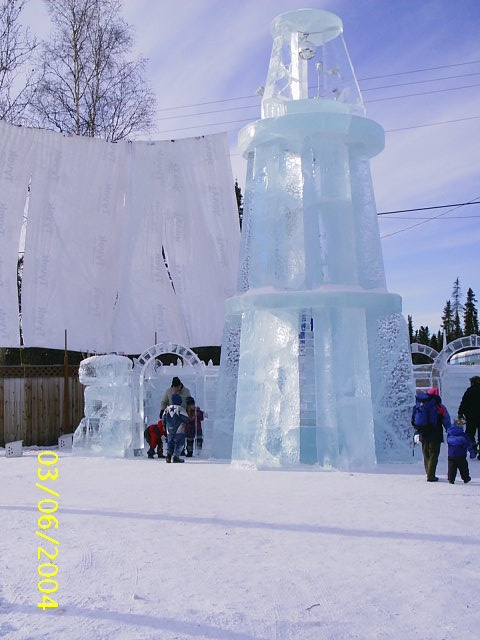 hielo escultura torre ice tower