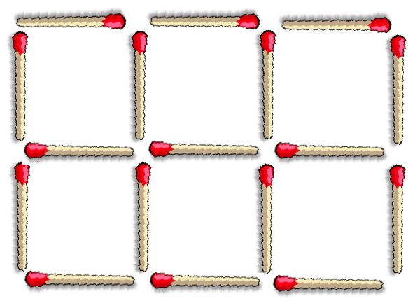 juego cerillas cuadrados 1