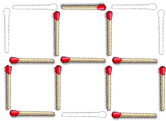 juego cerillas cuadrados 2