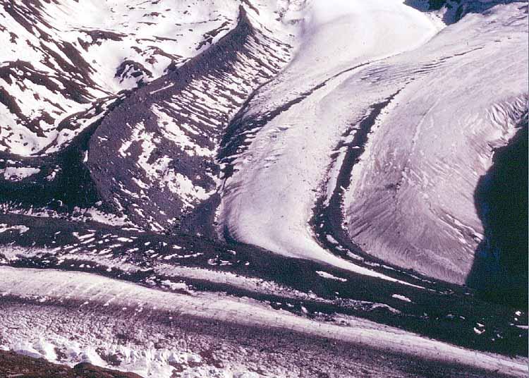 glacier zermatt morrena suiza