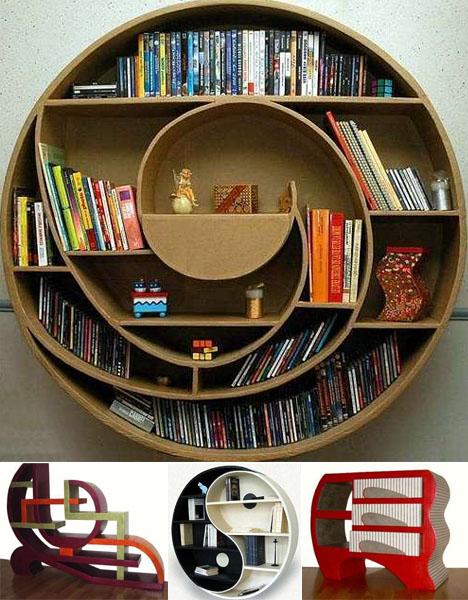 bibliotecas circulares ruedas estanterias espiral