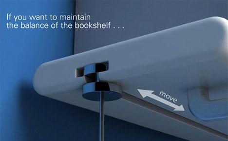 estanteria balace libros equilibrio
