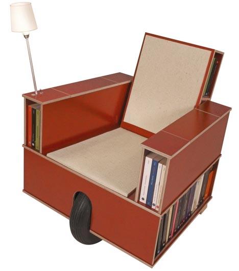 estanterias biblioteca ruedas sillon libros