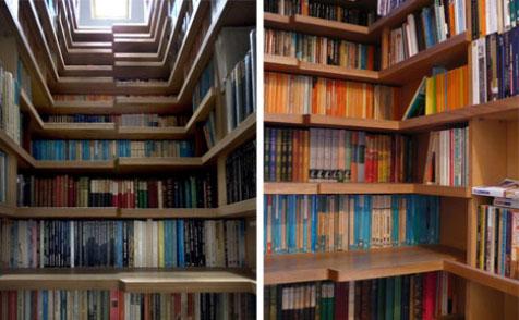libreria escalera estanteria libros