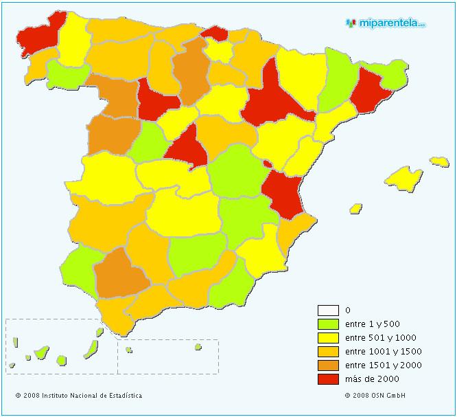 mapa antroponimia apellidos espana