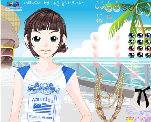 Chica de paseo por la playa