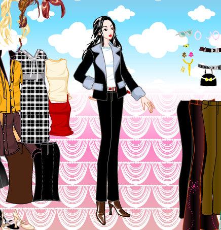 Vestir a la mujer modelo
