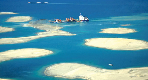 dubai the world islas dragado terreno
