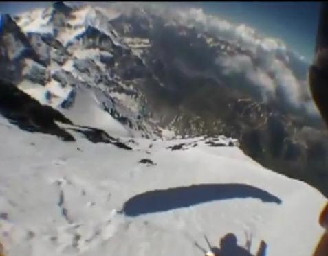 esqui volando