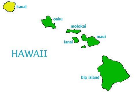 lluvia mapa wai-ale isla hawaii Kauai
