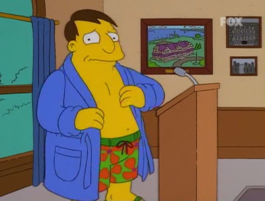 simpson homer mister x alcalde quimby