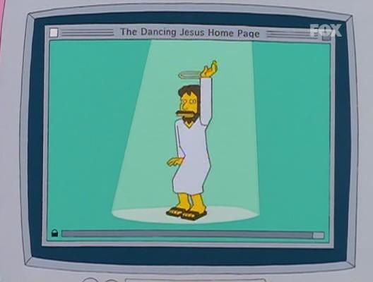simpson homer mister x jesus bailarin