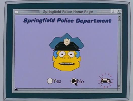 simpson homer mister x policia